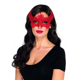 Lace Filigree Devil Mask Fancy Dress Accessory