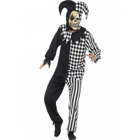 Evil Court Jester Costume Fancy Dress