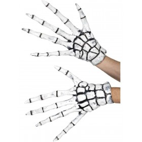 Grim Reaper/Skeleton Gloves Fancy Dress Accessory
