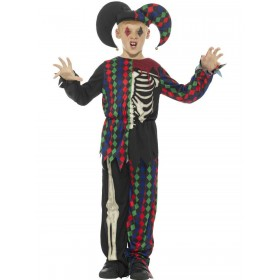 Skeleton Jester Costume Fancy Dress