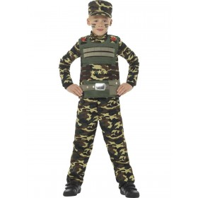 Camouflage Military Boy Costume Fancy Dress