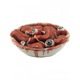 Latex Gory Gourmet Tongue Bowl Prop Fancy Dress Accessory