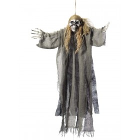 Hanging Pirate Skeleton Decoration Fancy Dress Accessory