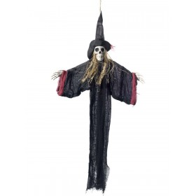 Hanging Witch Skeleton Decoration Fancy Dress Accessory