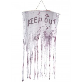Keep Out Bloody Hanging Decoration Fancy Dress Accessory