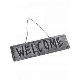 Hanging Welcome Sign Fancy Dress Accessory