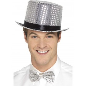 Sequin Top Hat Fancy Dress Accessory