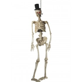 Light Up Latex Hanging Skeleton Groom Decoration Fancy Dress Accessory