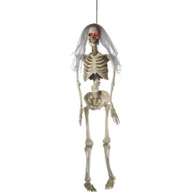 Light Up Latex Hanging Bride Skeleton Decoration Fancy Dress Accessory