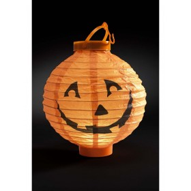 Light Up LED Paper Pumpkin Lantern Fancy Dress Accessory