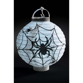 Light Up LED Paper Spider Web Lantern Fancy Dress Accessory