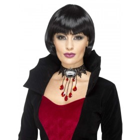 Deluxe Gothic Vamp Choker Fancy Dress Accessory