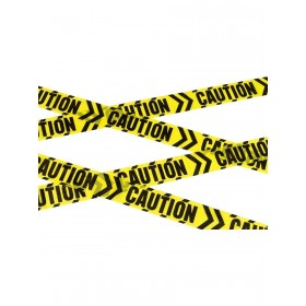 Caution Chevron Tape Fancy Dress Accessory