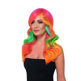 Fashion Rainbow Wig, Wavy, Long Fancy Dress Accessory