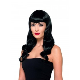 Deluxe Wavy Wig, With Shaped Fringe Fancy Dress Accessory