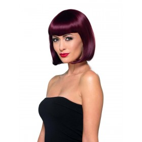 Deluxe Bob Wig With Shaped Fringe Fancy Dress Accessory