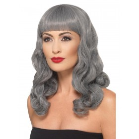 Deluxe Wig Wavy With Fringe Fancy Dress Accessory