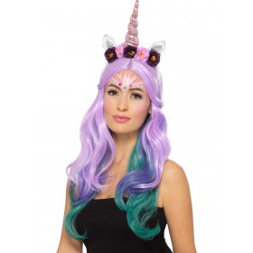 Unicorn Cosmetic Kit, Aqua Fancy Dress Accessory