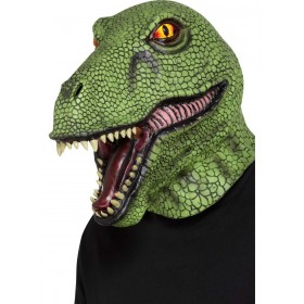 Dinosaur Latex Mask Fancy Dress Accessory