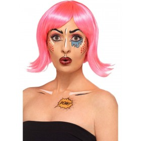 Pop Art Make Up Kit, Aqua Fancy Dress Accessory