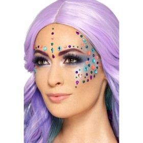 Jewel Face Gems Fancy Dress Accessory