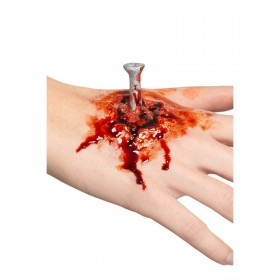 Latex Nail Wound Prosthetic Fancy Dress Accessory