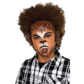 Kids Halloween Werewolf Make Up Kit, Aqua Fancy Dress Accessory