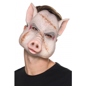 Evil Pig Killer Mask Fancy Dress Accessory
