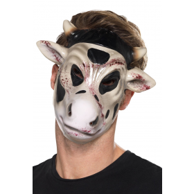 Evil Cow Killer Mask Fancy Dress Accessory
