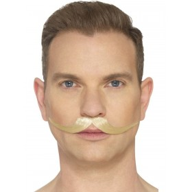 The English Moustache Blond Fancy Dress Accessory