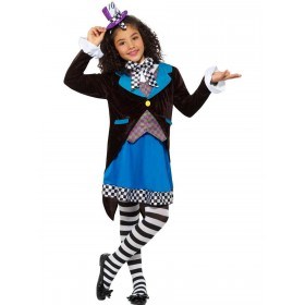 Little Miss Hatter Costume, with Dress Fancy Dress