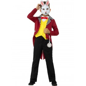 White Rabbit Costume, with Jacket Fancy Dress