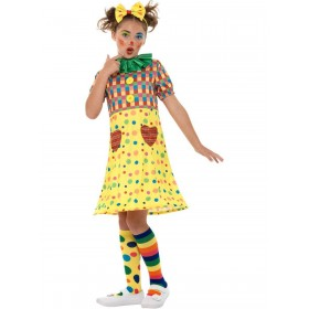Girls Clown Costume Fancy Dress
