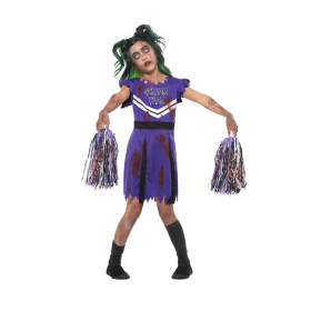 Dark Cheerleader Costume Fancy Dress