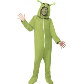 Unisex Green Alien  (Fancy Dress Costume)