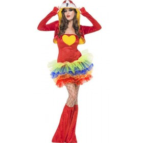Ladies Birds Of Paradise Parrot Fancy Dress Costume