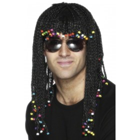 Braided Wig - Fancy Dress (Hawaiian) - Black