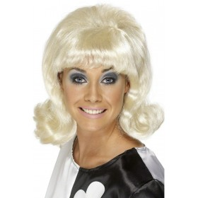 60S Flick-Up Wig - Fancy Dress Ladies (1960S) - Blonde