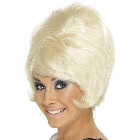 Sixties Beehive Wig - Fancy Dress Ladies (1960S) - Blonde