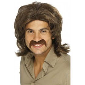 70'S Guy Wig - Fancy Dress Mens (1970S) - Brown