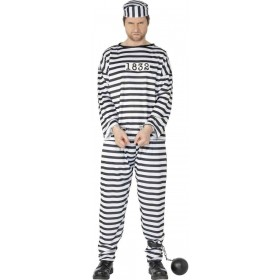 Convict Fancy Dress Costume Mens (Cops/Robbers)