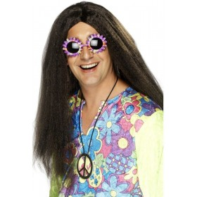 Hippy Wig - Fancy Dress Mens (1960S) - Brown