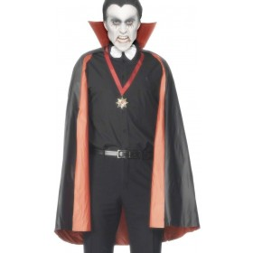 Pvc Reversible Vampire Cape - Fancy Dress (Halloween)