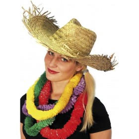Beachcomber Hawaiian Straw Hat - Fancy Dress (Hawaiian)