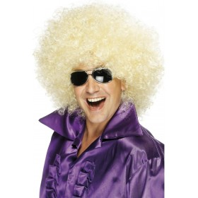 Afro Wig - Fancy Dress (1970S) - Blond