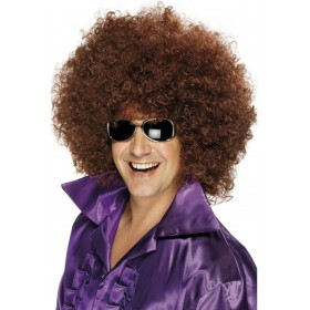 Afro Wig - Fancy Dress (1970S) - Brown