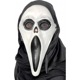 Glow In The Dark Screamer Mask - Fancy Dress Mens (Halloween)