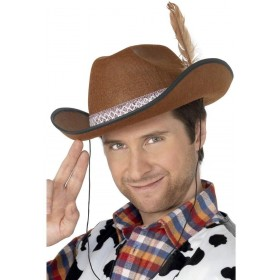 Cowboy Hat - Fancy Dress Mens (Cowboys/Native Americans)