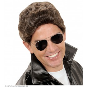 Greaser Wig Brown - Fancy Dress (Film)