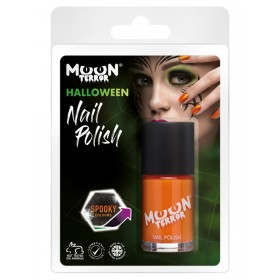 Moon Terror Halloween Nail Polish Orange